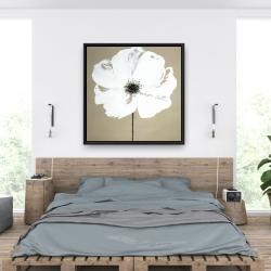 Framed 36 x 36 - Abstract color splash flower