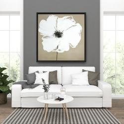 Framed 36 x 36 - Abstract color splash petals flower