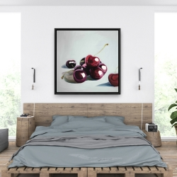 Framed 36 x 36 - Glossy dark cherries