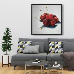 Framed 36 x 36 - Pile of cherries