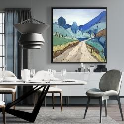 Framed 36 x 36 - Tuscany trail