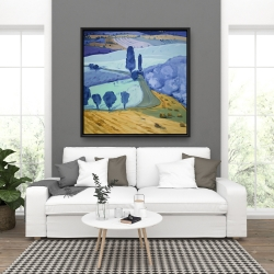 Framed 36 x 36 - Tuscany field