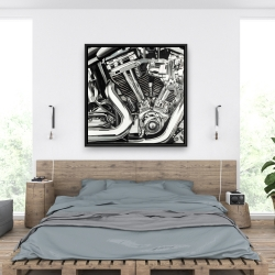 Framed 36 x 36 - Mechanism of a motorcycle
