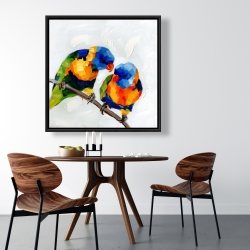 Framed 36 x 36 - Couple of parrots