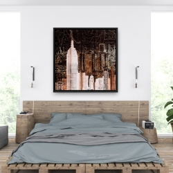 Framed 36 x 36 - The empire city of newyork