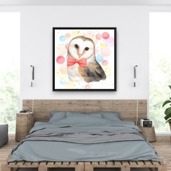 Framed 36 x 36 - Chic owl