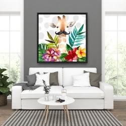 Framed 36 x 36 - Exotic giraffe