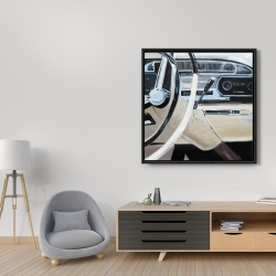 Framed 36 x 36 - 1950s car dashboard