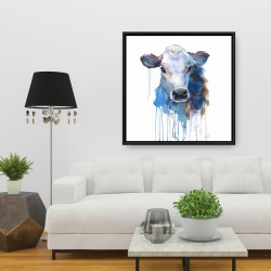 Framed 36 x 36 - Watercolor jersey cow