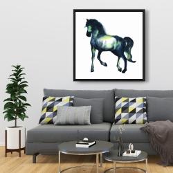 Framed 36 x 36 - Elegant horse