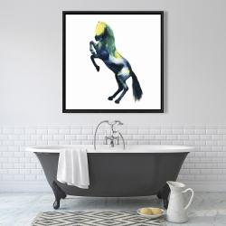 Framed 36 x 36 - Greeting horse