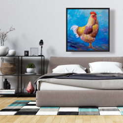 Framed 36 x 36 - Beautiful rooster