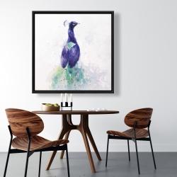 Framed 36 x 36 - Graceful peacock