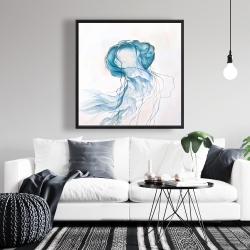 Framed 36 x 36 - Jellyfish moving