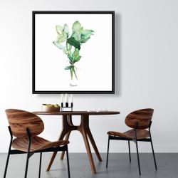 Framed 36 x 36 - Tied up basil leaves bundle - en