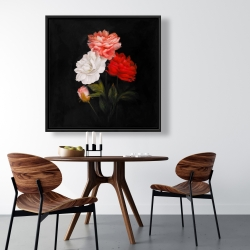 Framed 36 x 36 - Small bundle of roses