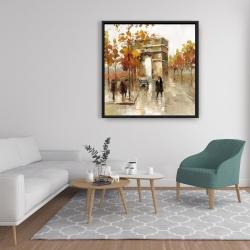 Framed 36 x 36 - Arc de triomphe in autumn