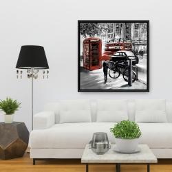 Framed 36 x 36 - European street