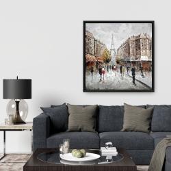 Framed 36 x 36 - Paris busy street