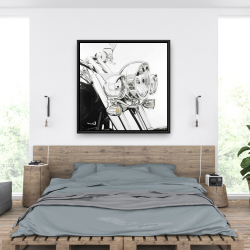 Framed 36 x 36 - Motorcycle light