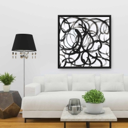 Framed 36 x 36 - Abstract curly lines