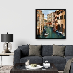 Framed 36 x 36 - Magical venice canal