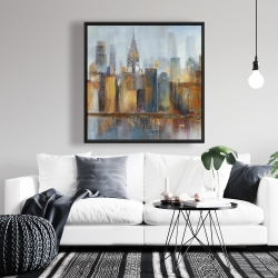 Framed 36 x 36 - Cityscape with chrysler building