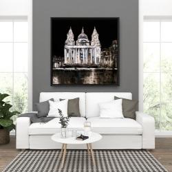 Framed 36 x 36 - White monument on a dark background