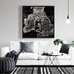 Framed 36 x 36 - Roman britain maps