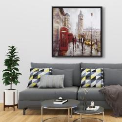Framed 36 x 36 - The big ben at london