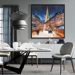 Framed 36 x 36 - Illuminated paris