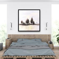 Framed 36 x 36 - Landscape of trees