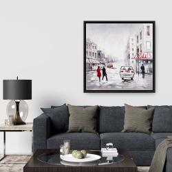 Framed 36 x 36 - Peaceful street scene