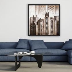 Framed 36 x 36 - Square city
