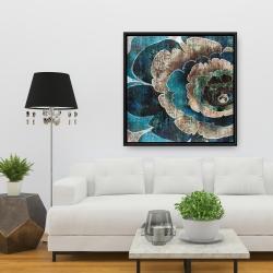 Framed 36 x 36 - Blue flower montage