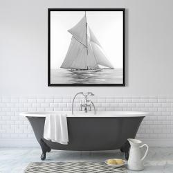 Framed 36 x 36 - Sailing ship