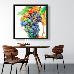 Framed 36 x 36 - Colorful bunch of grapes