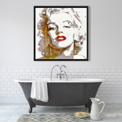 Framed 36 x 36 - Marilyn monroe with typography
