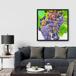 Framed 36 x 36 - Bunch of grapes