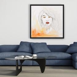 Framed 36 x 36 - Portrait in watercolor