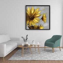 Framed 36 x 36 - Mountain arnica flowers