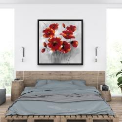 Framed 36 x 36 - Anemone flowers