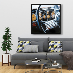Framed 36 x 36 - Vintage car interior
