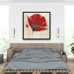Framed 36 x 36 - Two red flowers