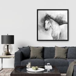 Framed 36 x 36 - Domino horse