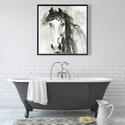 Framed 36 x 36 - Beautiful wild horse