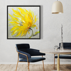 Framed 36 x 36 - Yellow flower