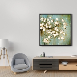 Framed 36 x 36 - White cherry blossom