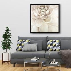 Framed 36 x 36 - Delicate chrysanthemum