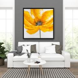 Framed 36 x 36 - Big yellow flower
